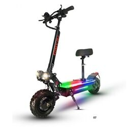 Adult Dual Motor Electric Scooter 11inch Off Road Tires Fast Speed 60v 5600wnew