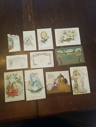 Lot Of 11 Antique Easter Cards And Post Cards. Early 1900's.