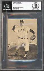 1961 Tacoma Giants National Bank 15 Gaylord Perry Rc Bgs Auto Autographed 66081
