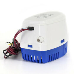 Marine Submersible Automatic Bilge Water Pump Boat Accessories White+blue