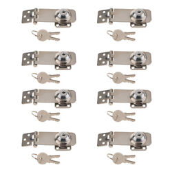 8x Marine Stainless Safety Hatch Cabin Lock Latch Hasp With Two Keys-silver