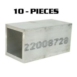 10 - Pieces - 2.5 X 2.5 Od X .250 Wall By 5 Long Aluminum Square Tube T6-6061