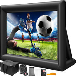20ft Inflatable Movie Projector Screen Portable W/blower Carry Bag Outdoor New
