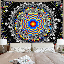 Mandala Tapestry Hippie Trippy Psychedelic Wall Hanging Throw Blanket Home Decor