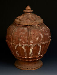 Five Dynasties Rare Antique Chinese Pottery Covered Jar