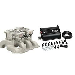 Fitech 35261 Go Efi 2x4 W/ Force Fuel Delivery System, Aluminum