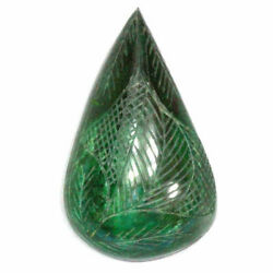 1020 Cts Best Pear Carving  100 Natural Emerald Loose Gemstone