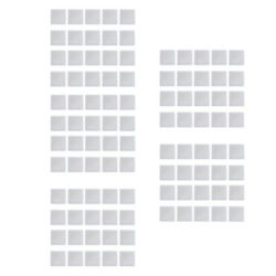 100 Pieces Collectible Coins Protective Square Coin Capsules