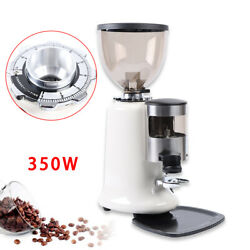 Home Commercial Espresso Coffee Grinder Burr Mill Machine Electric Grind White