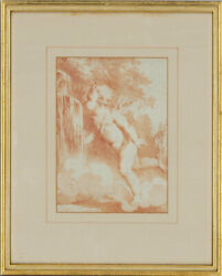 Emile H. Meyer 1823-1893 - Late 19th Century Lithograph Cupid At The Fountain