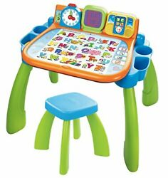 Vtech Touch And Learn Activity Desk Frustration Free Packaging, Green