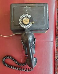 Vintage Western Electric Telephone 211 Space Saver Rotary 43a F1 And 634a Ringer