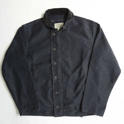 Rrl Bower Deck Cotton Jacket Size S Military Zip Button Used