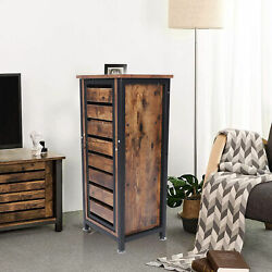 Sofa Side Tables Antique Brown Standing Cabinet Night Table Bedside Table