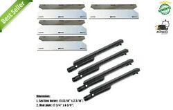 4 Pack - Repair Kit Gas Grill, Cast Iron Burner + Stainless Steel Heat Plates