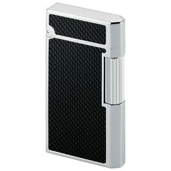 Caran D'ache Cd 03 White Lacquer High Plate And Dia Silver Gas Lighter
