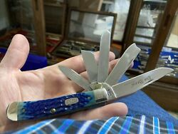 Case Xx 1997 6554 Ss Blue The Beast Trapper Pocket Knife Unused