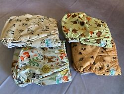 New Angelicware Baby Cloth Diapers All In One Size Reusable Bamboo Pocket 4-pack