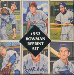 Reprint Mint 1952 Set Bowman And T 206 Reprint Cards Ty Cobb Cy Young,mantle Repr