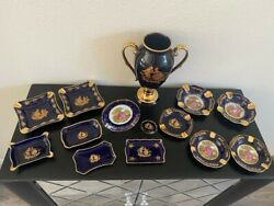 Authentic Porcelain Florence Limoge Set Collection Made In France