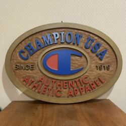 Champion Usa 1919 Giant 3d Sign Board Store Display Not For Sale Noverty Jn