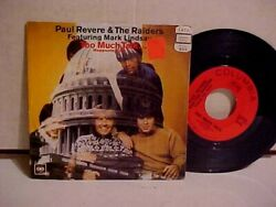 Paul Revere And The Raiders 45 Rpm W/ Picture Sleeve Columbia Records 4-44444 Vg+