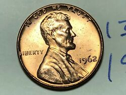 1962 Lincoln Memorial Cent Penny 1302f