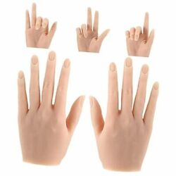 Silicone Nail Training Hand Practice Hand Flexible Mannequin Hands 2 Light Color