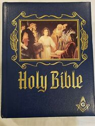 Holy Bible Masonic Master Reference Red Letter Masons Edition Heirloom 1988