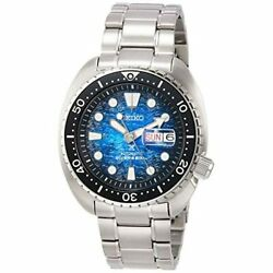 Seiko Watch Prospex Sbdy063 Menand039s Silver Band Blue Dial Divers Automatic Winding