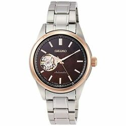 Seiko Selection Watch Womenand039s Ssde006 Silver Brown Analog Round Face Mechanical