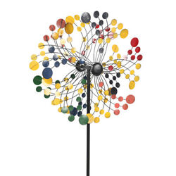 Outdoor Kinetic Wind Mill Spinner Metal Yard Garden Lawn Ornament Decoration