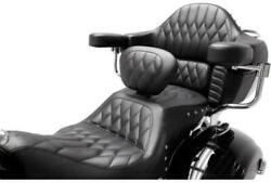 Mustang Black Diamond Heated 2-up Seat Andamp Backrest 2016-2020 Indian