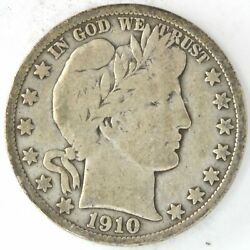1910 S Barber Half Dollar 50 Cent 90 Silver Us Coin San Francisco United States