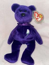 Ty Beanie Baby The Princess Diana Bear 1997 Very Rare Vintage With Tag Cover
