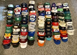 Vtg Snapback Trucker Farming Hats Lot 100+ Usa Variety Brands Mesh Patch And More