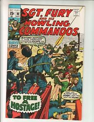 Sgt Fury And His Howling Commandos 80 Vf+ 8.5 9/70 To Kill A Hostage