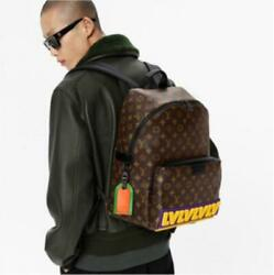 Louis Vuitton Discovery Backpack Monogram Coated Canvas Black Hardware