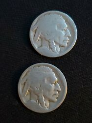 2 Two Nd No Date Us Buffalo Nickel Coins