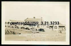 3233- Fort Peck Montana 1930s Government Building. Real Photo Postcard By Veeder