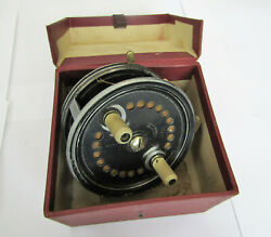 Vintage S. Allcock The Easicast 4 Baitcasting / Spinning Fishing Reel And Box