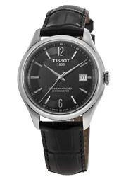 New Tissot Ballade Automatic Black Dial Leather Menand039s Watch T108.408.16.057.00
