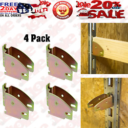E-track Wood Beam Socket Fittings Brackets Accessories Cargo Storage Pack Of 4