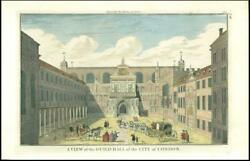 C1750s London View Of The Guild Hall Of The City Of London By Maitland Ml2/74