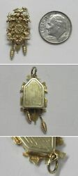 J981 Vintage 14k Solid Yellow Gold 3d Moveable Weights Cuckoo Clock Charm