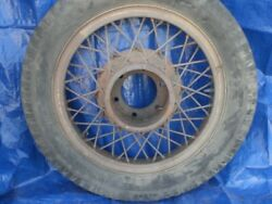 1932 Hudson Wire Wheel, Was Nickle Plated Spilt-rim, Badly Rusted, But Could Be