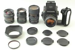 [mint] Mamiya M645 1000s + 80mm F/1.9 + 3 Lens + Waist Level Finder From Japan