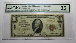 10 1929 Holdenville Oklahoma Ok National Currency Bank Note Bill Ch. 5270 Vf25