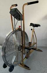 Vintage Schwinn Airdyne Dual Action Stationary Gold Exercise Bike Free Shipping