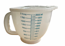1977 Tupperware Mix-n-store 500-3 Plastic 8 Cup 2 Quart Measuring Bowl And Lid